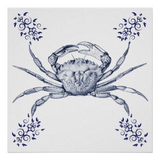 Aquatic Art ~ Green Crab Poster