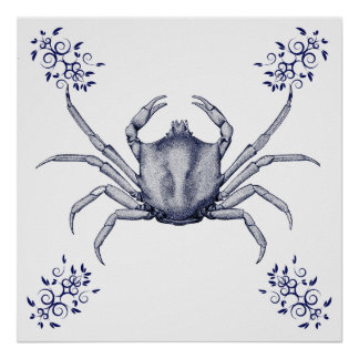 Aquatic Art ~ Kelp Crab Poster