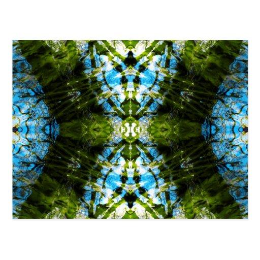 Aquatic Lace - Blue and Green Post Card