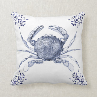 Aquatic Life Delftware ~ Common Crab Cushions