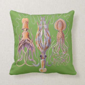 Aquatic Life  Haeckel Octopus Cushions