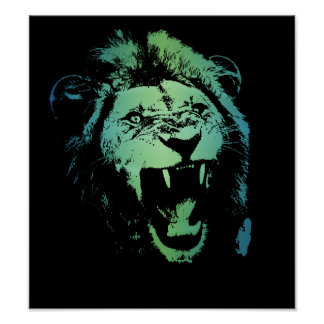 Aquatic Lion Poster