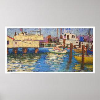 aquatic park boatdock poster
