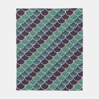 Aquatic Scales Fleece Blanket