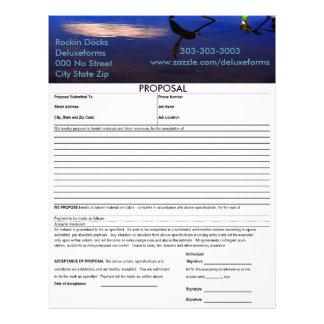 Aquatic Silhouette Cloud Proposal Letterhead