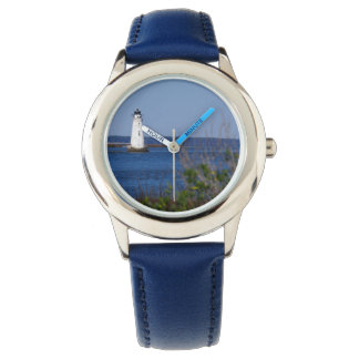 Aquatic Theme Watch - Lighthouse with Blue Band