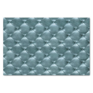 Aquatic Tiffany Blue Metallic Tufted Leather Teal Tissue Paper