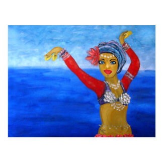 Aquatic Tribe Dancer Postcard