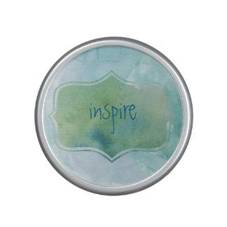 Aquatic Watercolor Blues Inspiration Speaker