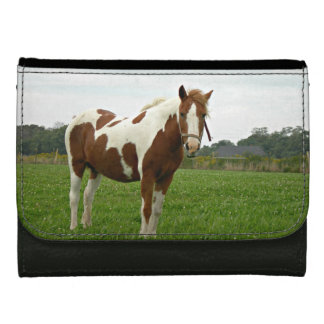 Aquebogue Painted Horse Wallets For Women