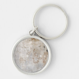 Aqueous rust (sun) Silver-Colored round keychain