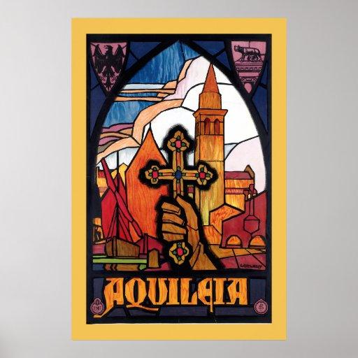 Aquileia Vintage Italian Travel Poster