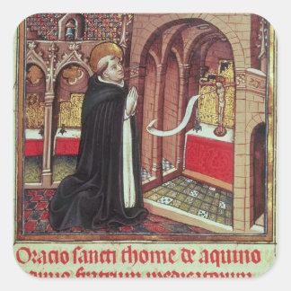 Aquinas'Libro de Horas de Alfonso el Square Stickers