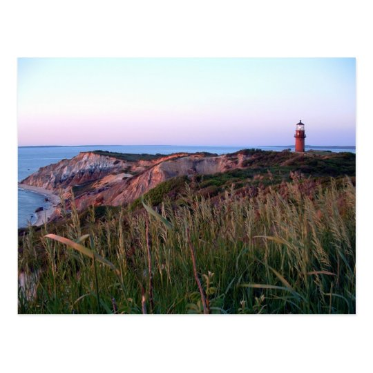 Aquinnah Sunset and Lighthouse Postcard