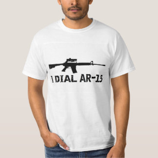 Ar15 2nd Amendment 'I DIAL AR-15' PRO GUN T-shirts
