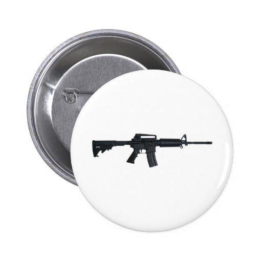 AR15 assault rifle Pinback Button