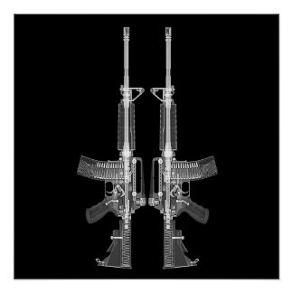 AR-15 CT scan image HIGH DETAIL POSTER Perfect Poster