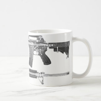 AR-15 CT scan/X-RAY DETAILED IMAGE Coffee Mug