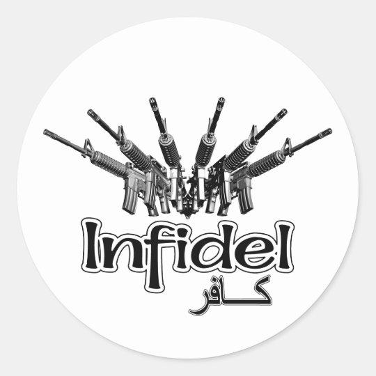 AR-15 Infidel Classic Round Sticker
