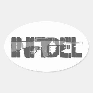 AR-15 INFIDEL Gun Rights Pro American Oval Sticker