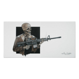 AR-15 Skeleton Poster
