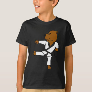 AR- Funny Martial Arts Brown Bear T-Shirt
