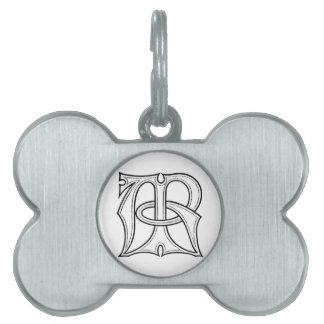 AR Gothic Monogram Pet Tag