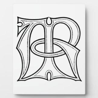 AR Gothic Monogram Plaque