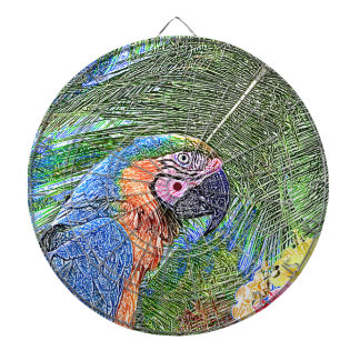 Ara parrot dartboard