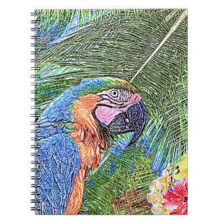 Ara parrot notebooks