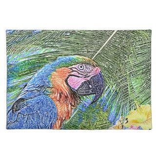 Ara parrot placemat