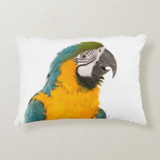 Ara parrot portrait cushion