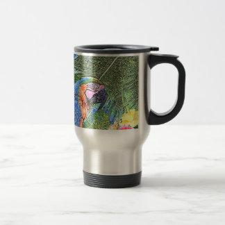 Ara parrot travel mug