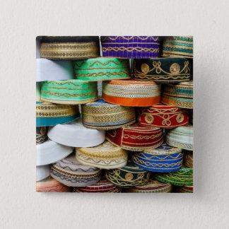 Arab Caps At Market 2 Inch Square Button