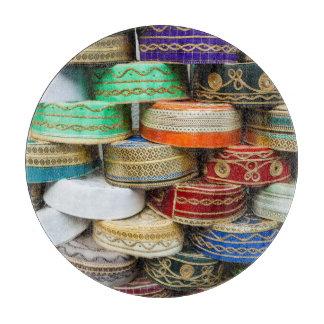Arab Caps At Market Cutting Board