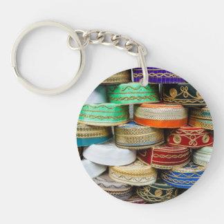 Arab Caps At Market Keychain