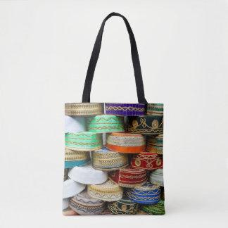 Arab Caps At Market Tote Bag