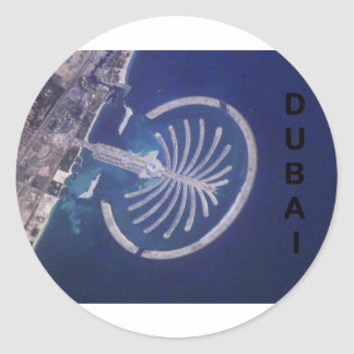Arab Emirates Dubai Palm-Island Resort (St.K) Classic Round Sticker