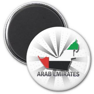 Arab Emirates Flag Map 2.0 Magnet