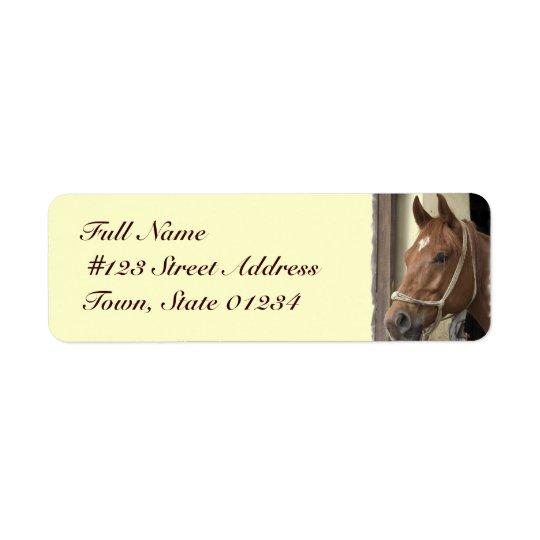 Arab Horse Return Address Label