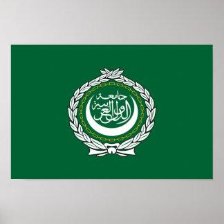 Arab League flag symbol islamic muslim Poster