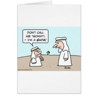 arab muslim moslem islam sunni shi'a shia sonny card