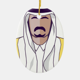 Arab Prince vector Ceramic Ornament
