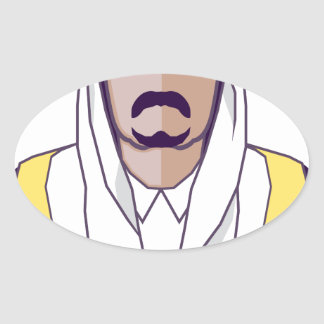 Arab Prince vector Oval Sticker