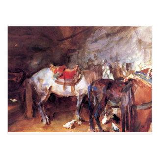 Arab Stable by John Singer Sargent Postcard