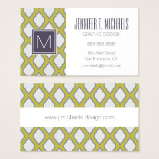 Arab Style Pattern Business Card