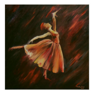Arabesque Ballet Dancer - Canvas Print