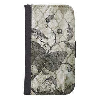Arabesque Butterflies I Galaxy S4 Wallets