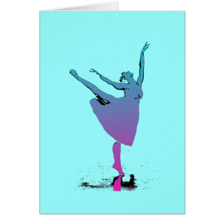 Arabesque Dancer Dances Card