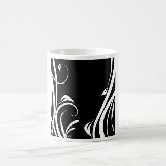 Arabesque in black person and white coffee mug